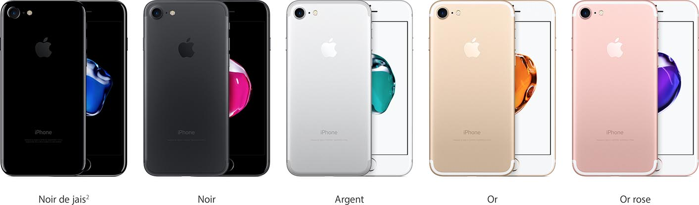iPhone 7 couleurs