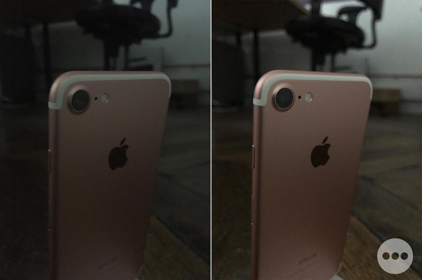 iPhone 7 basse luminosité