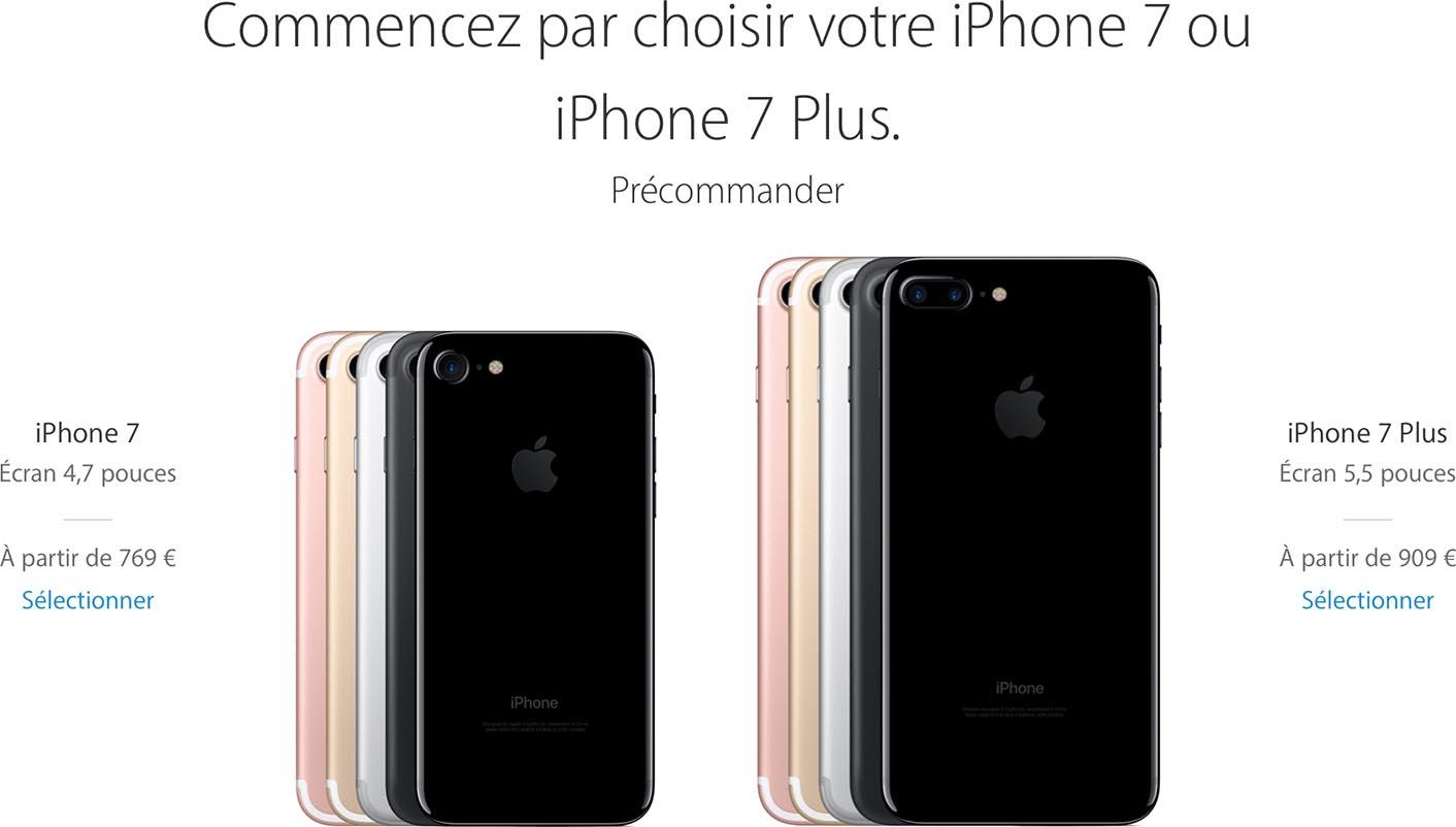 iPhone 7 précommandes