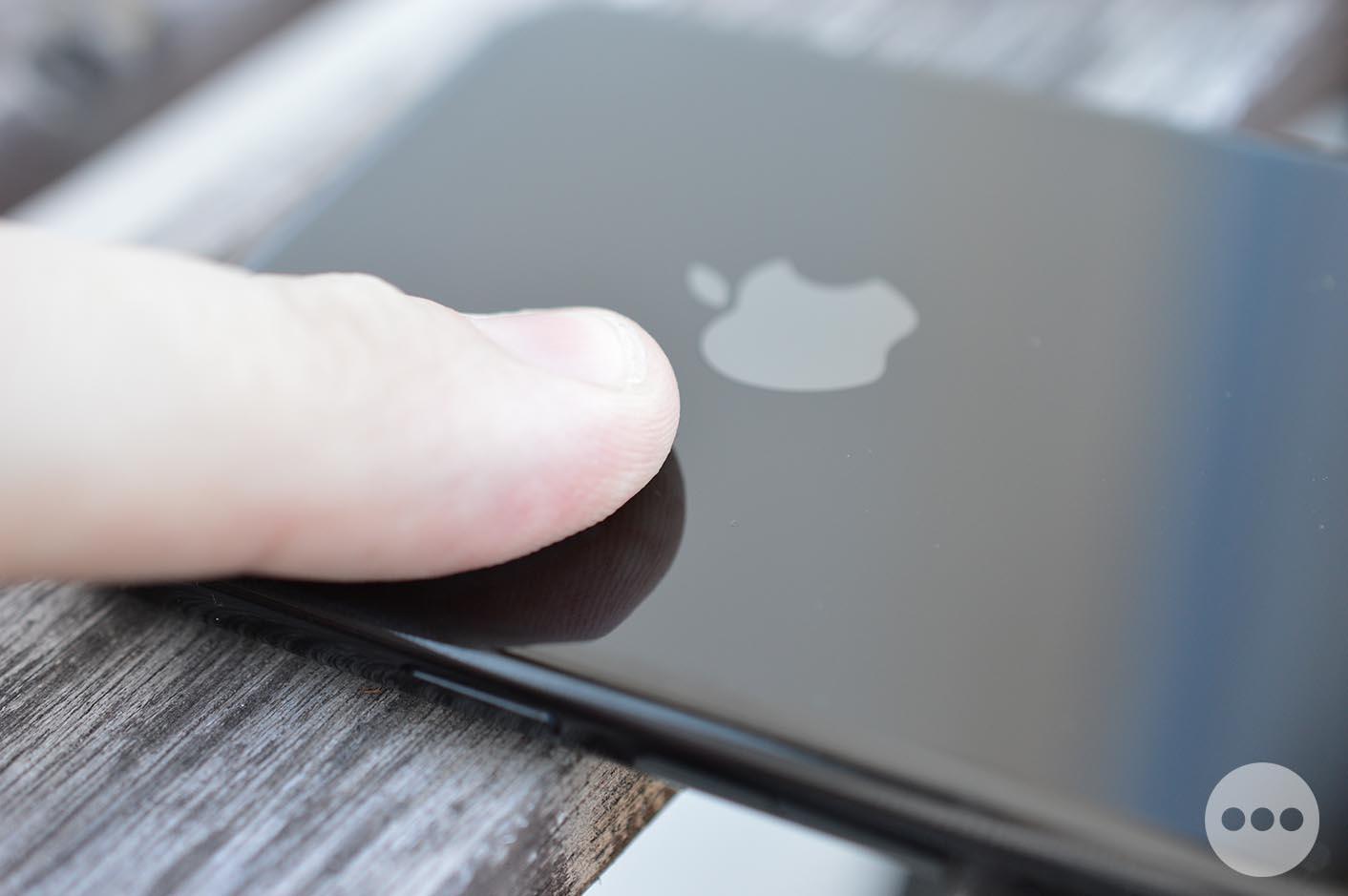 iPhone 7 noir de jais traces de doigt