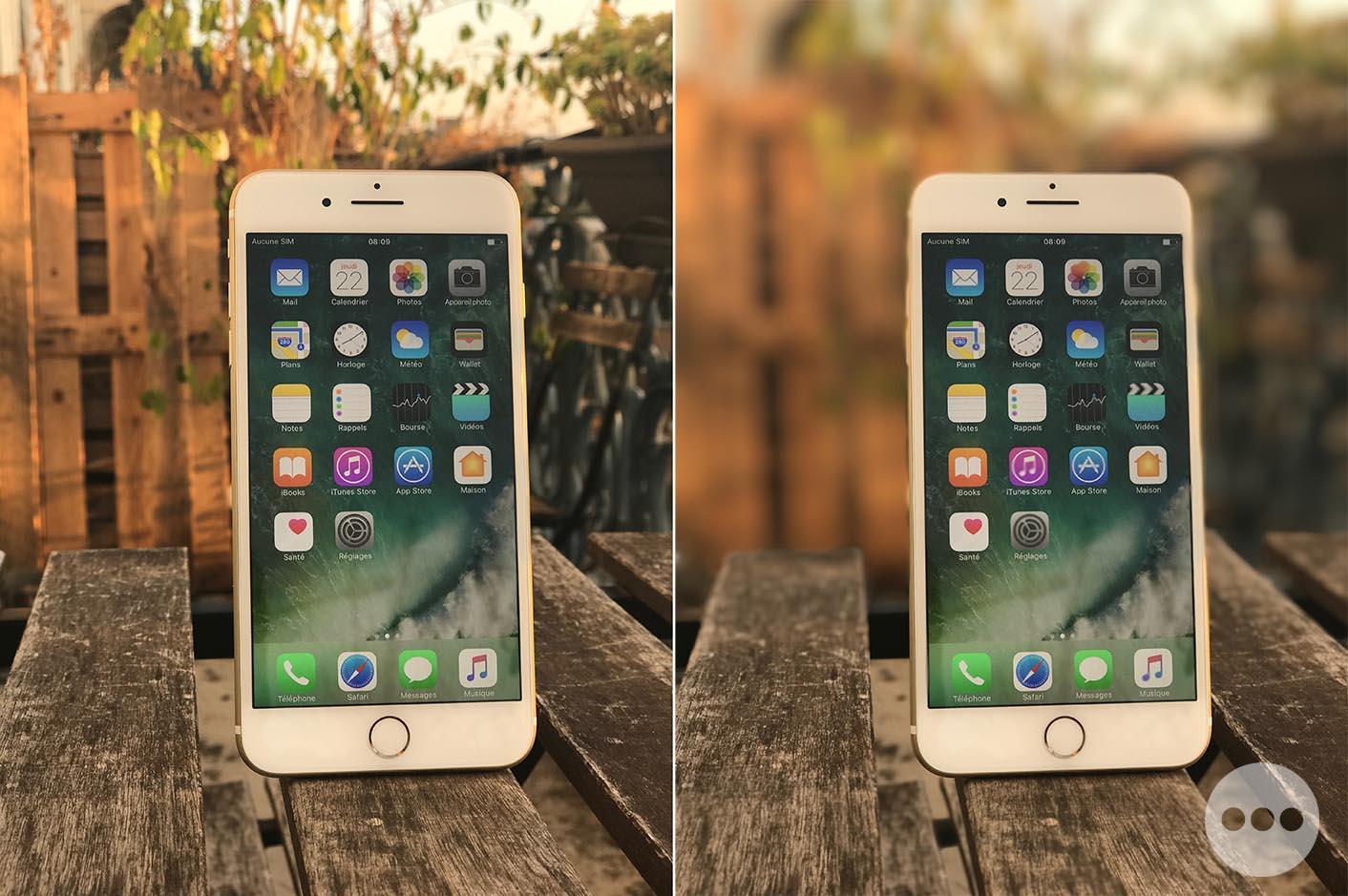 iPhone 7 flou bokeh
