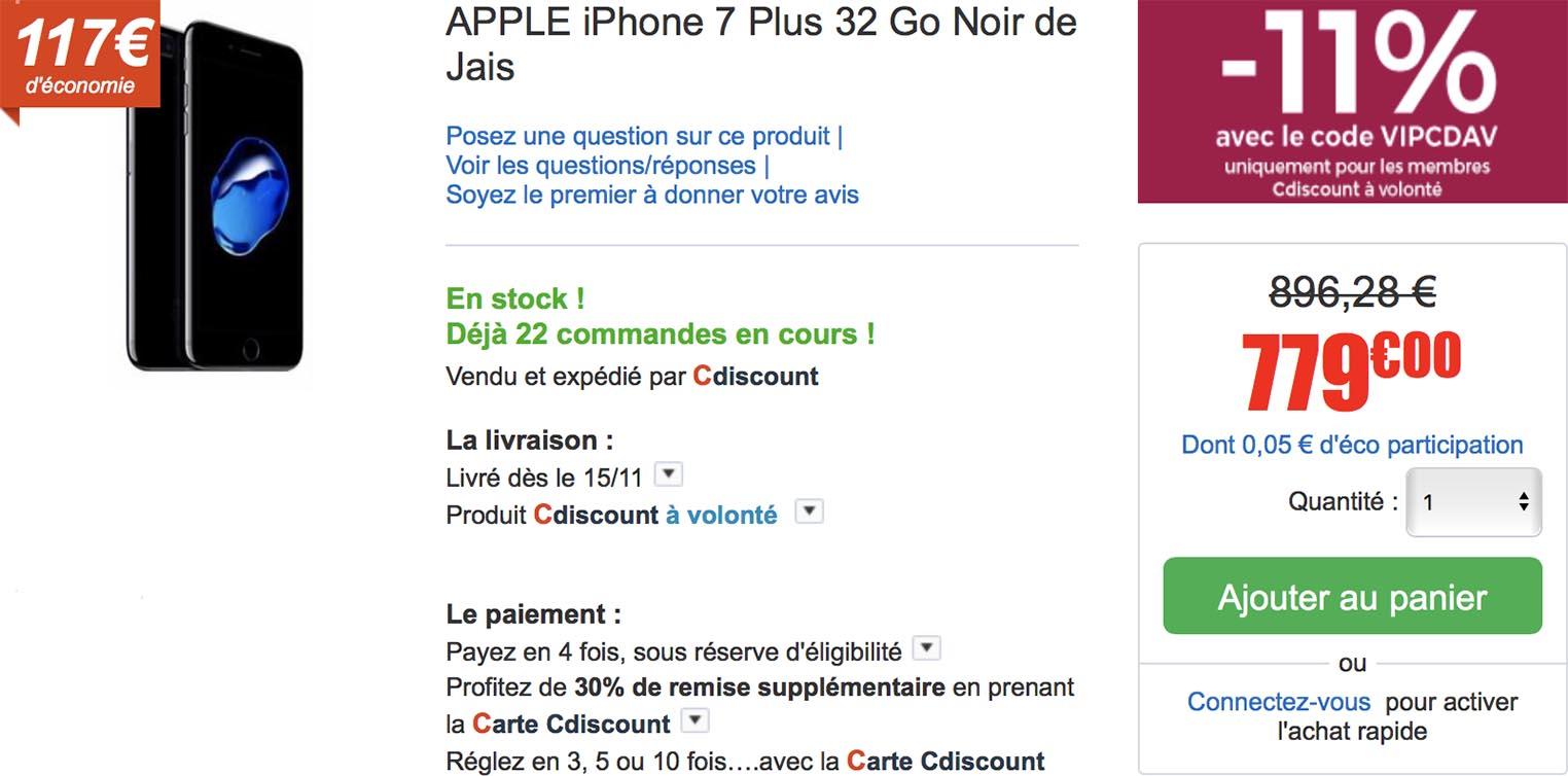 iPhone 7 Plus CDiscount