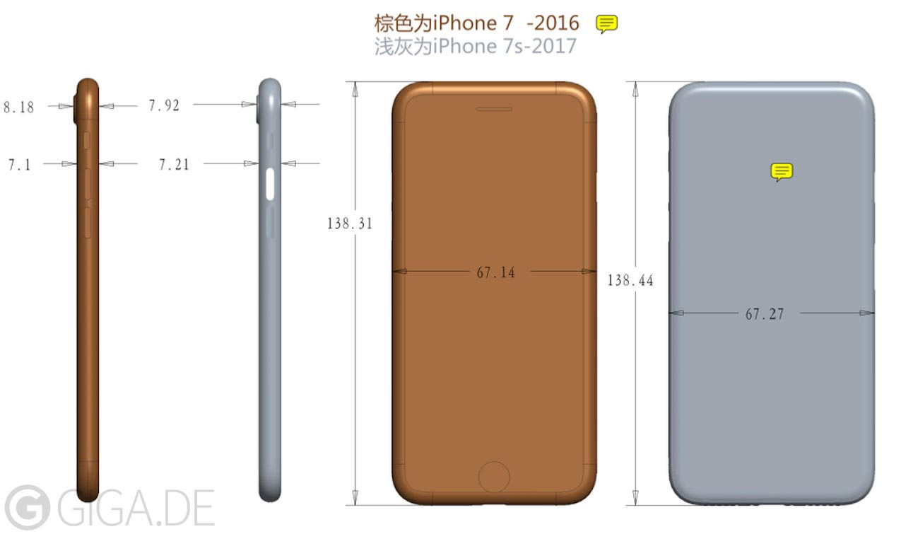 iPhone 7s dimensions
