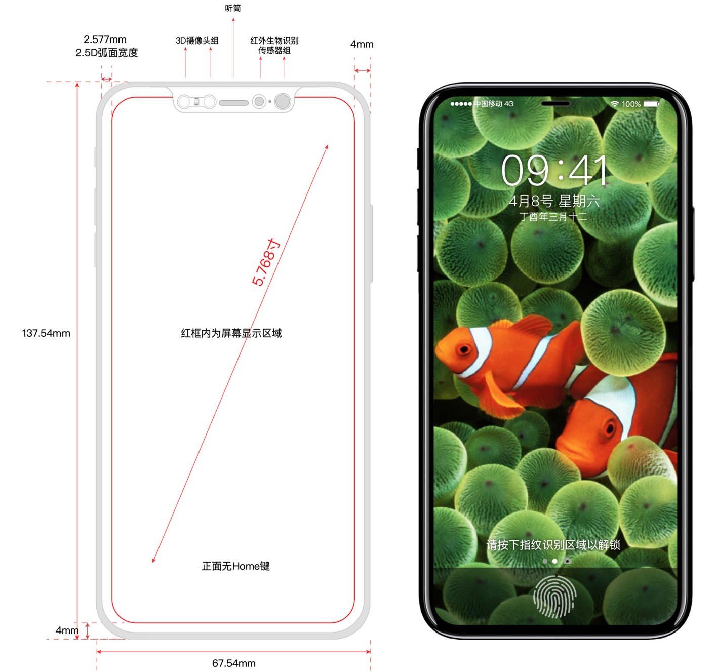 iPhone 8 schéma