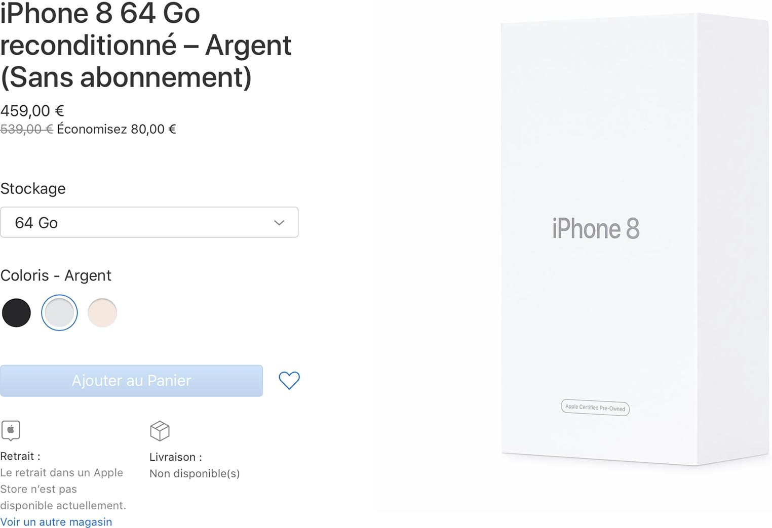 iPhone 8 64 Go Refurb Store