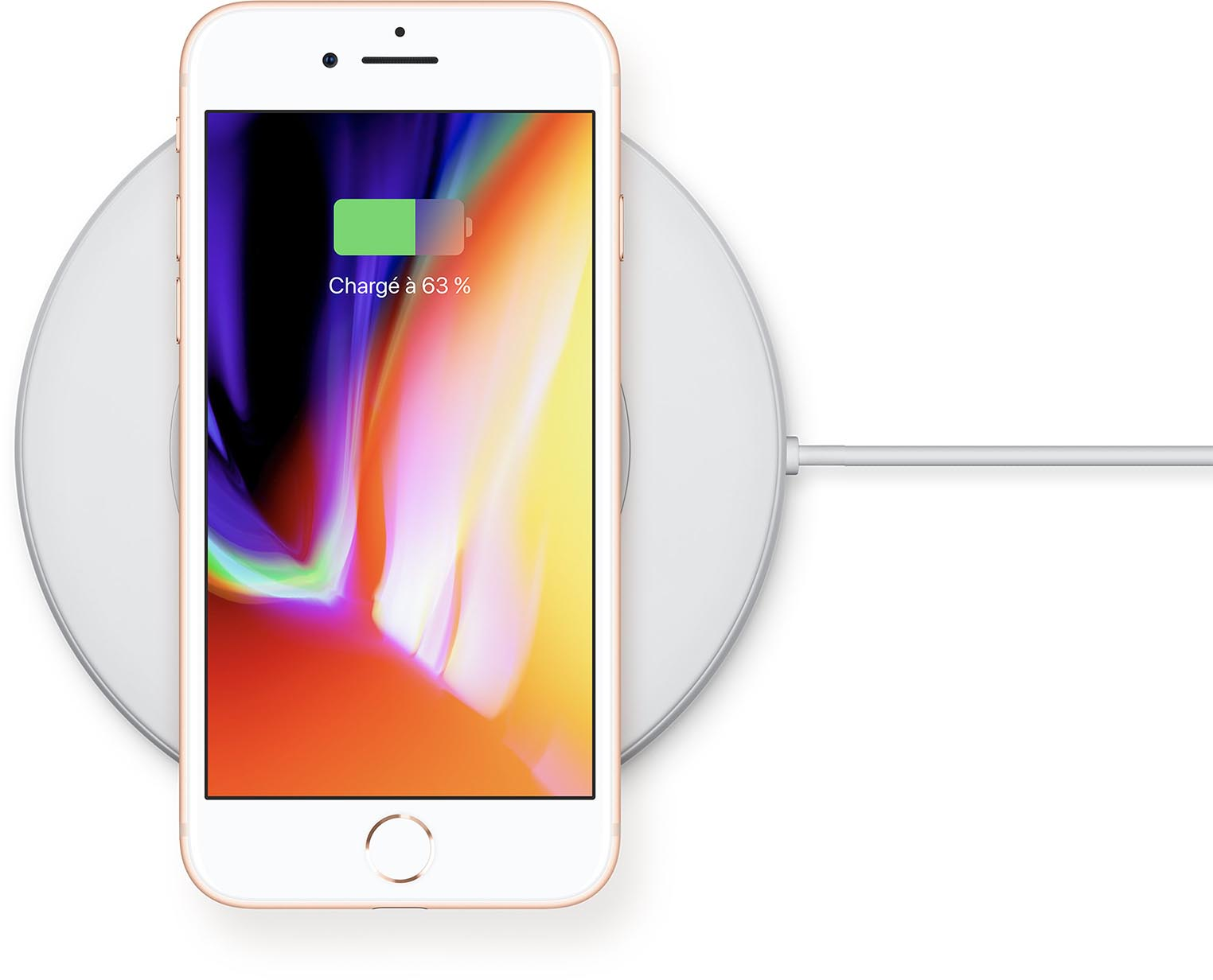 iPhone 8 recharge par induction