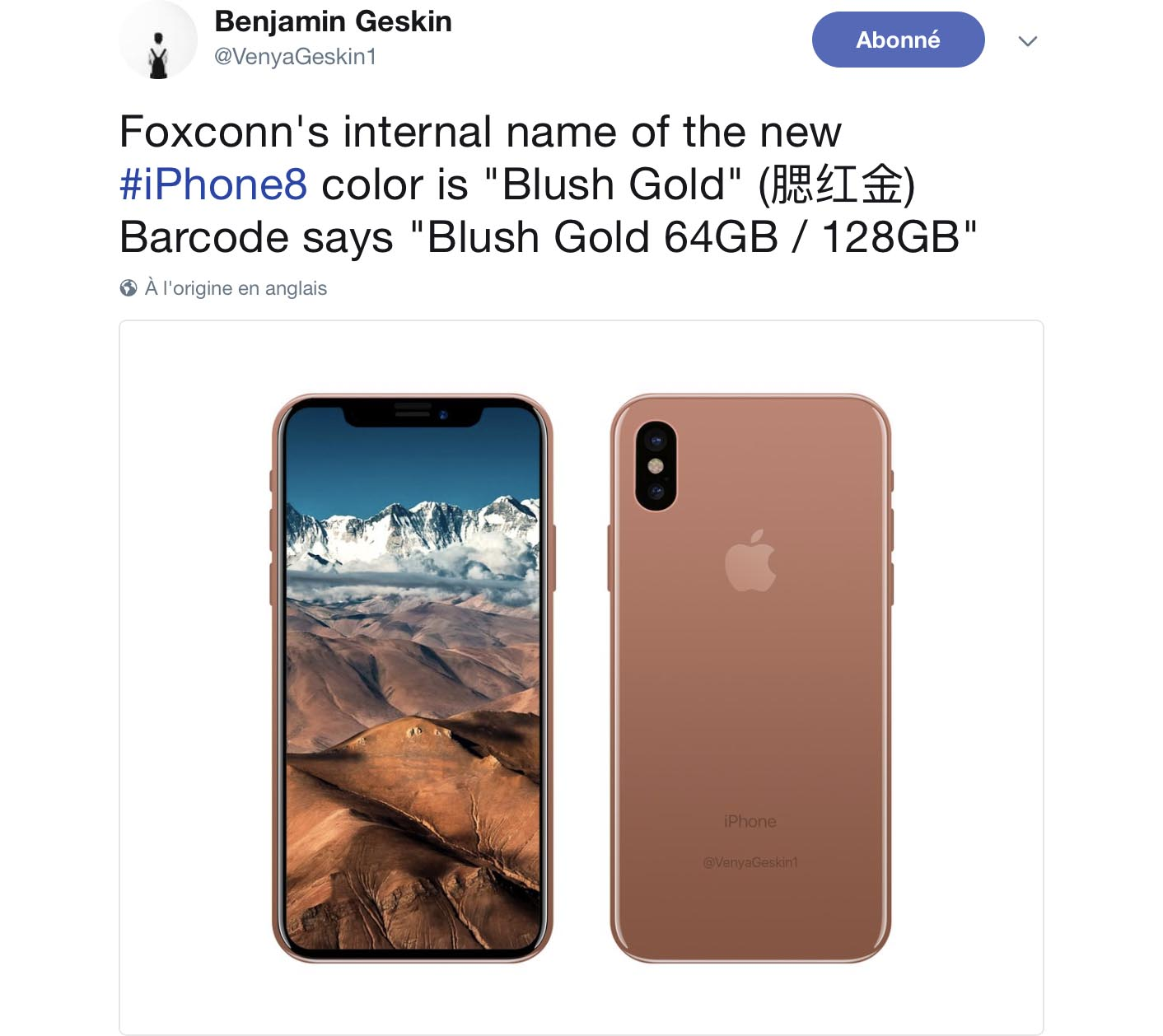 iPhone 8 Blush Gold