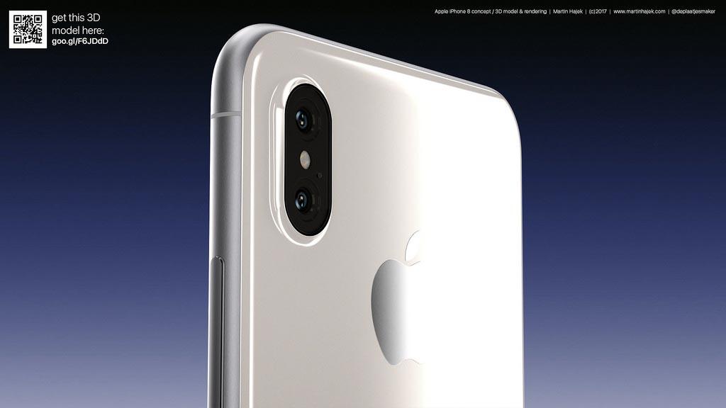 iPhone 8 concept blanc Martin Hajek