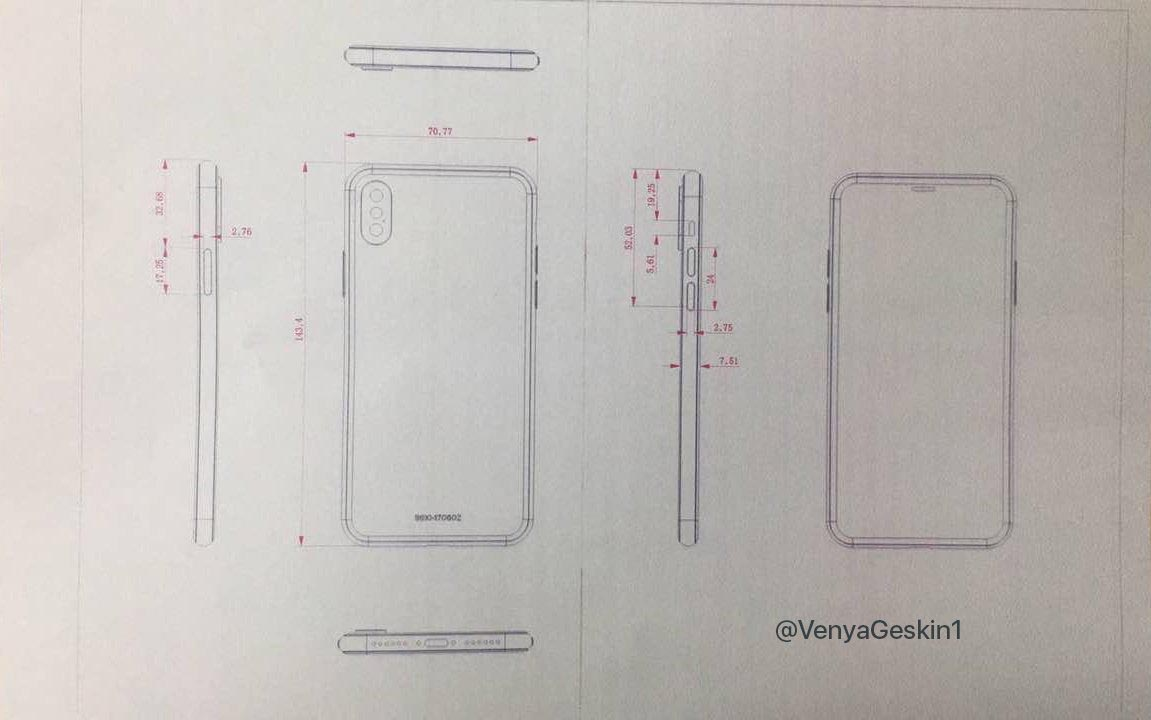 iPhone 8 schéma industriel