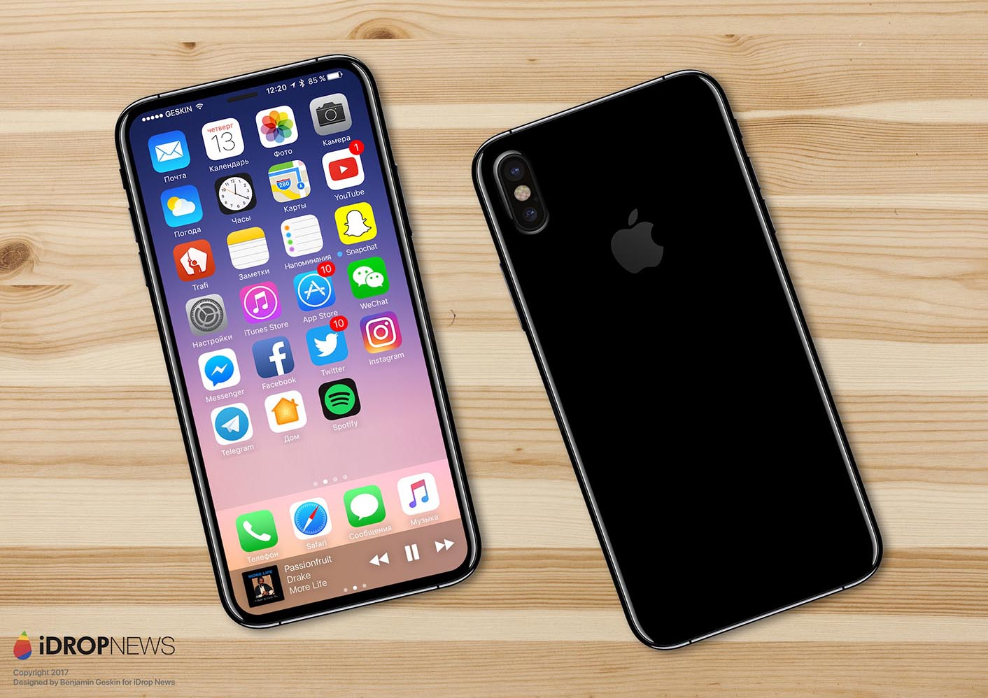 iPhone 8 concept Geskin