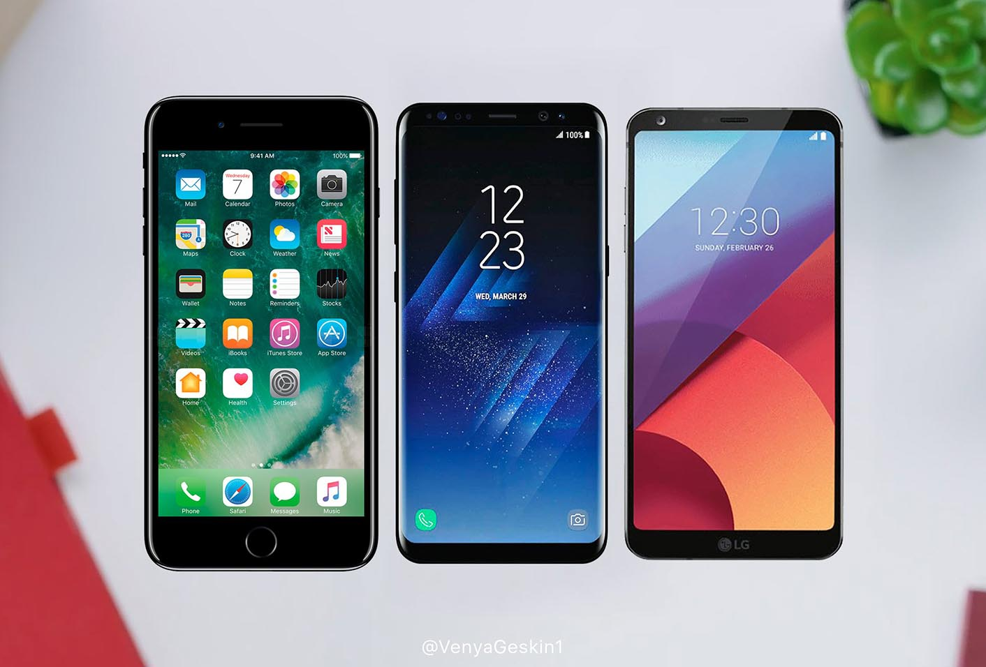 iPhone 8 LG G6 Galaxy S8