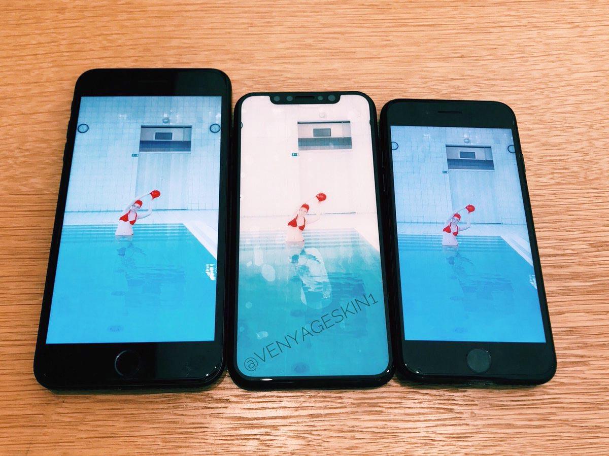 iPhone 8 maquette comparaison