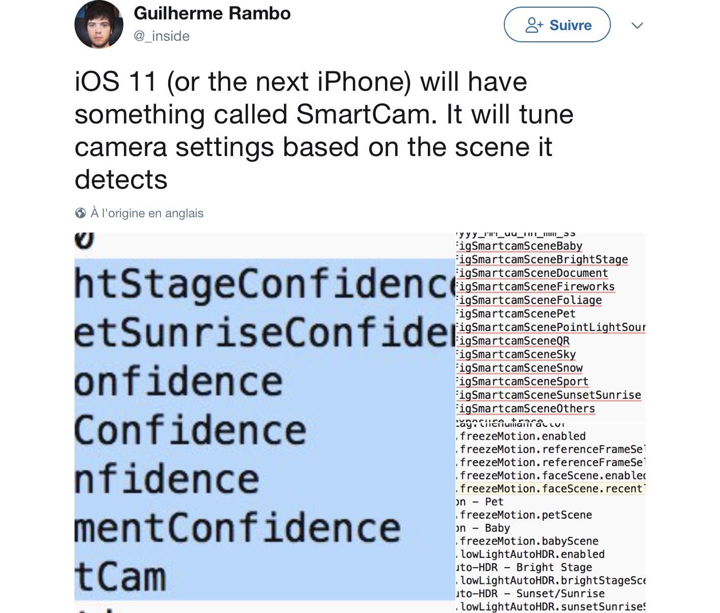 iPhone 8 SmartCamera