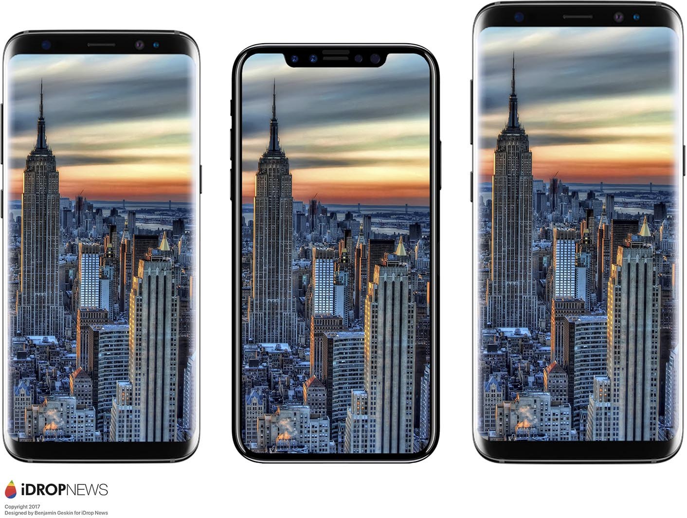 iPhone 8 comparaison Galaxy S8
