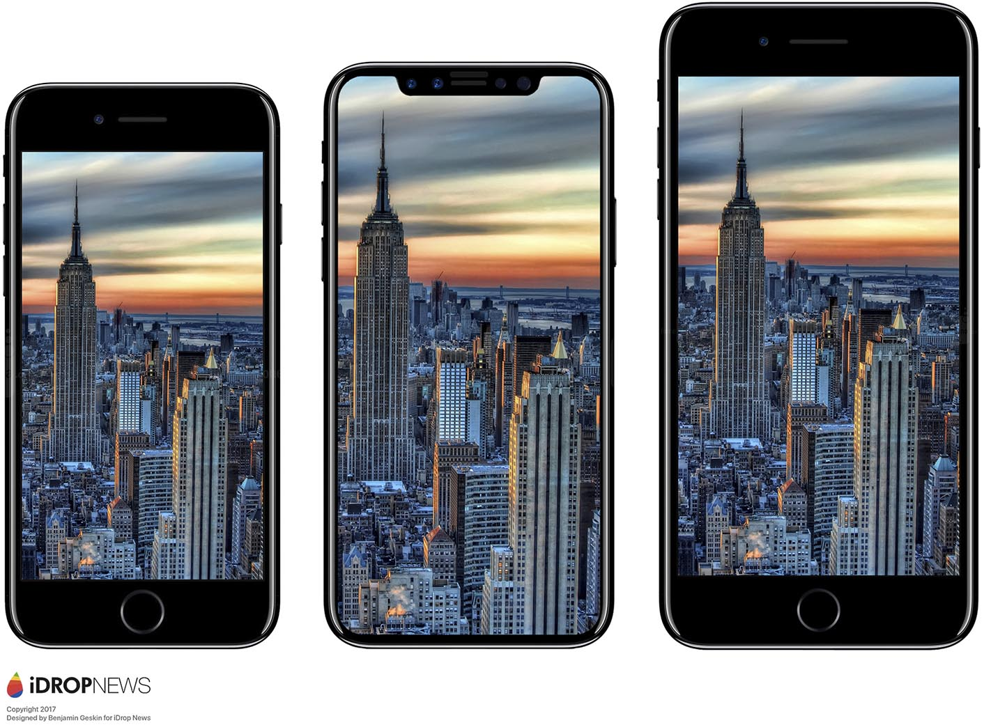 iPhone 8 comparaison taille