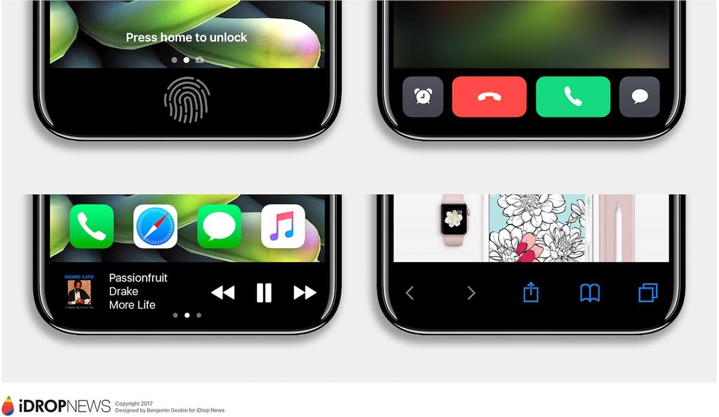 iPhone 8 Zone de fonctions