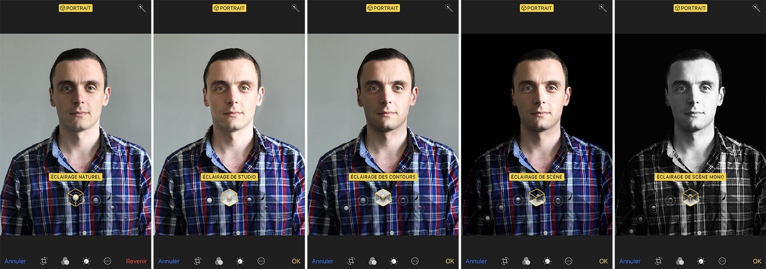 iPhone 8 test mode portrait