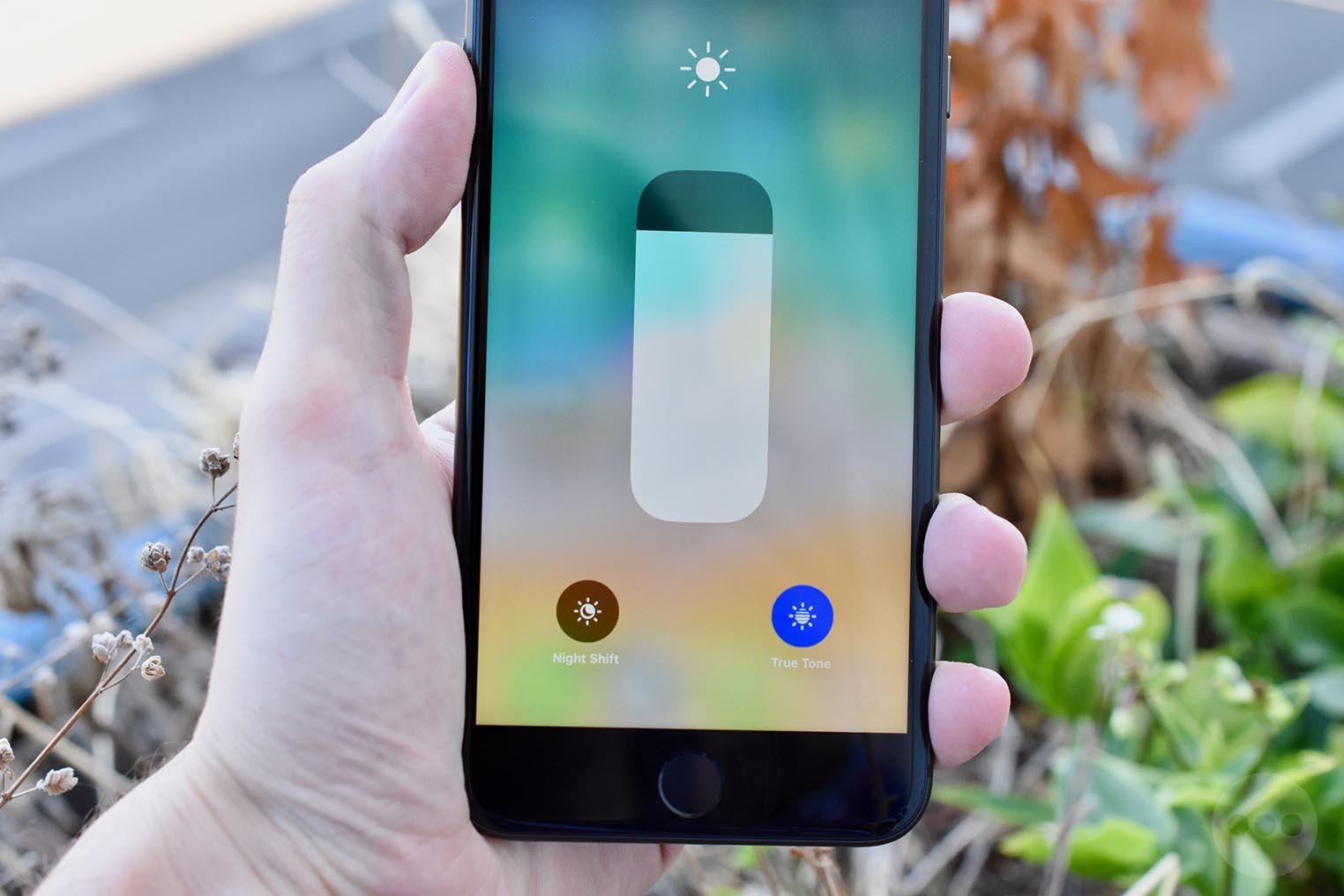 iPhone 8 Plus True Tone Centre de Contrôle