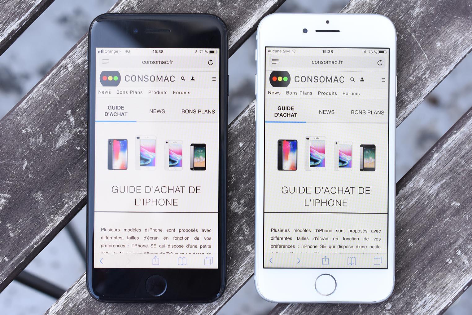 iPhone 8 test True Tone