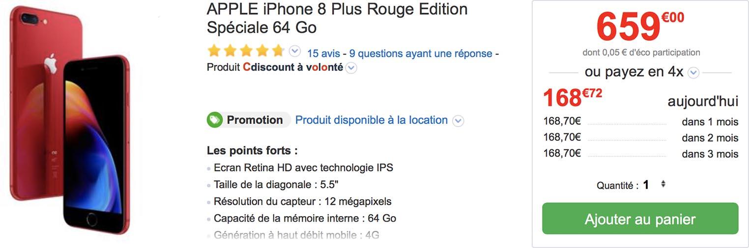 iPhone 8 Plus CDiscount