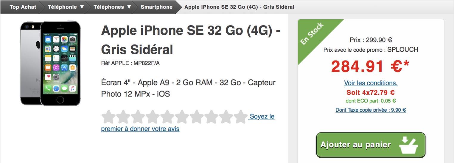 iPhone SE Top Achat