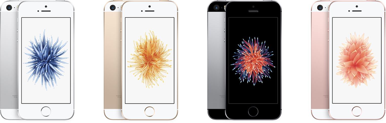 iPhone SE couleurs