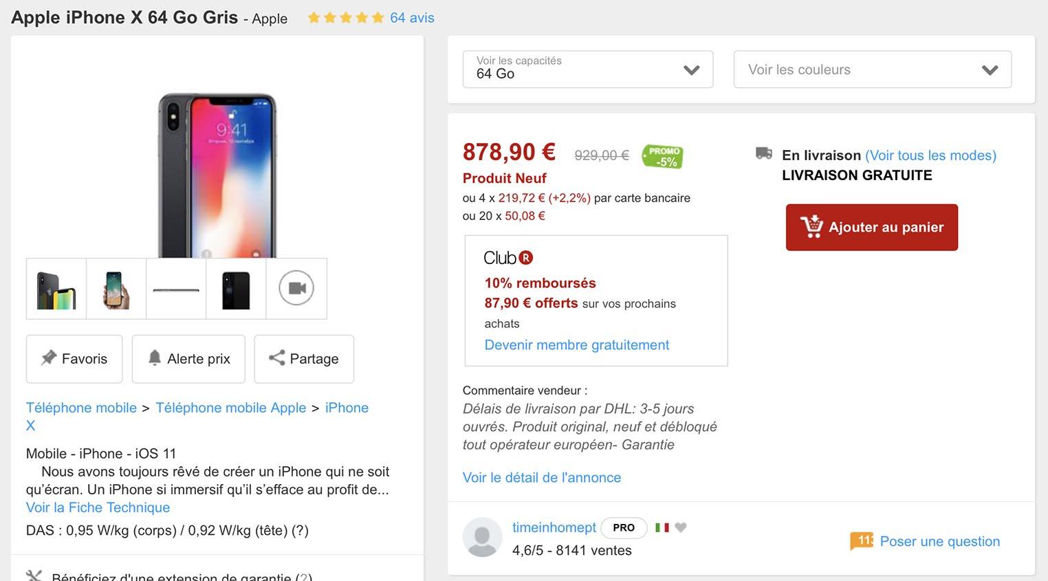 iPhone X promo Rakuten