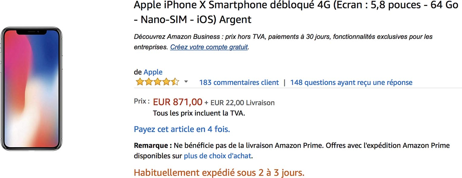 iPhone X promo Amazon