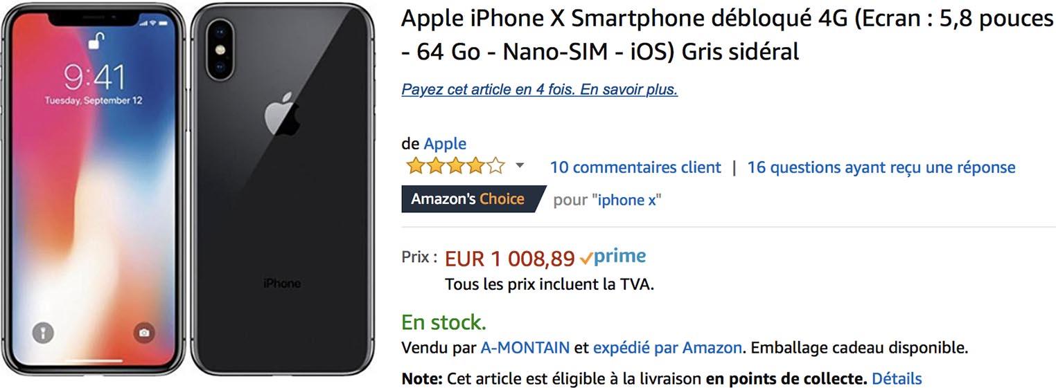 iPhone X promotion Amazon