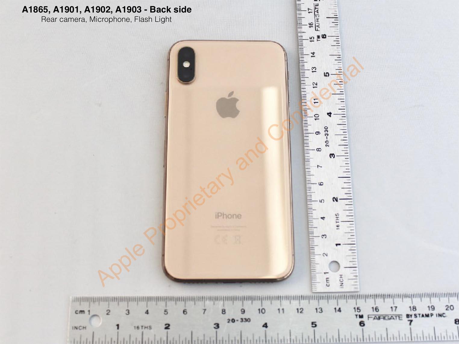 iPhone X doré FCC