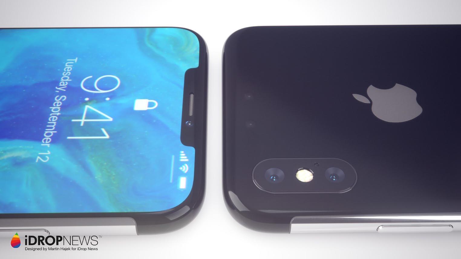 Concept iPhone X encoches réduites