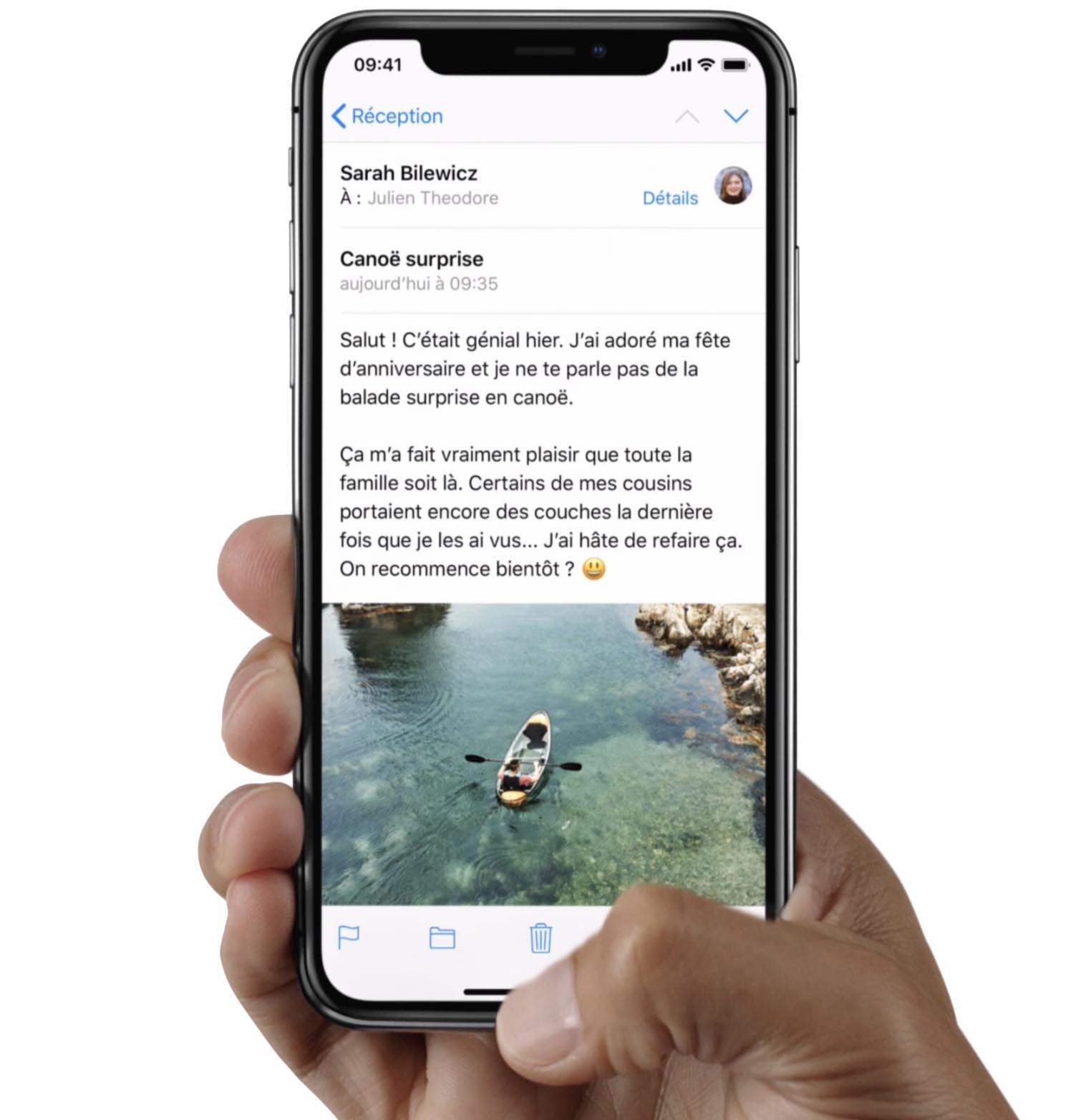 iPhone X barre accueil