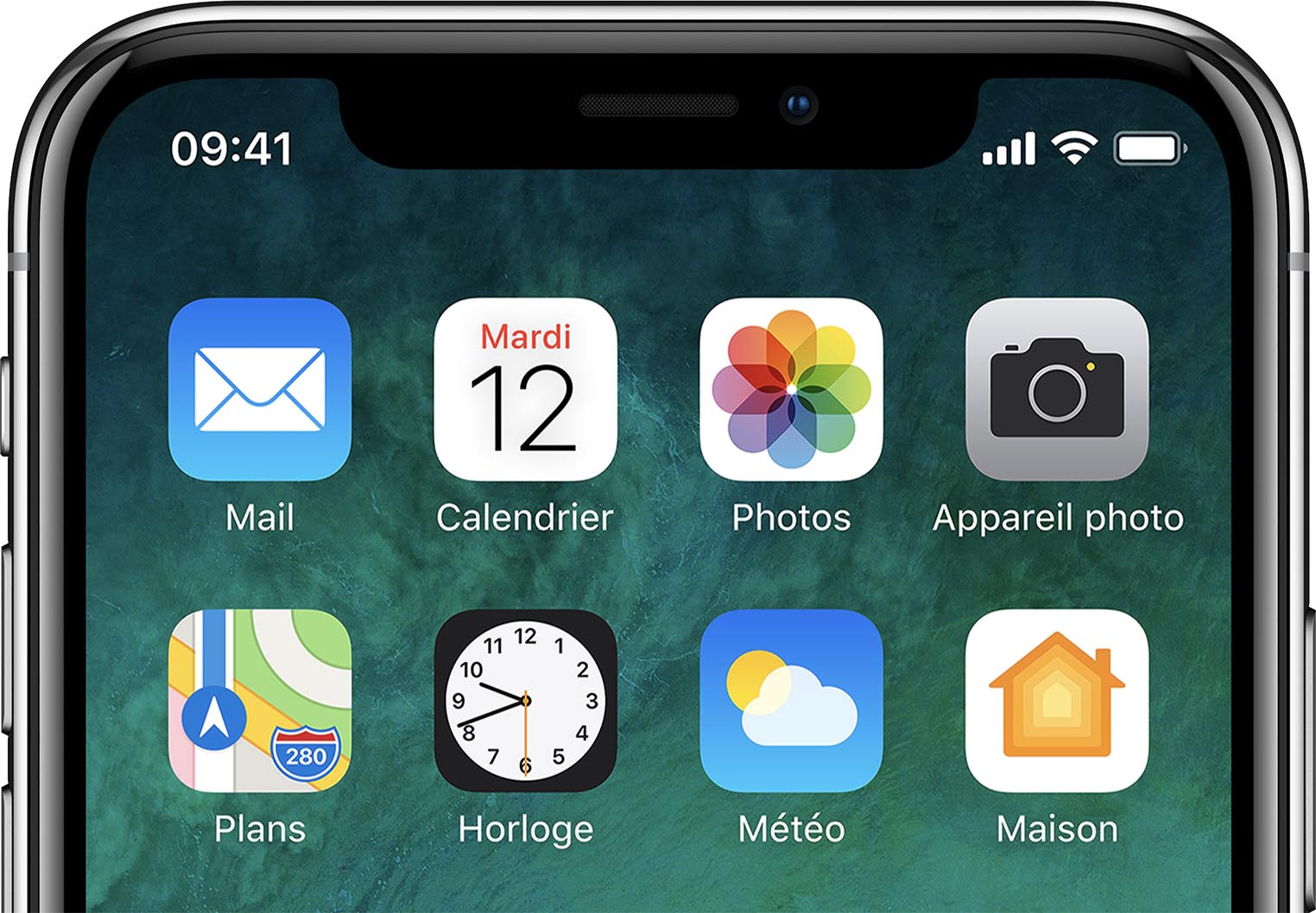 iPhone X interface