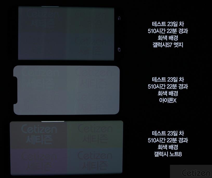 iPhone X brulure OLED