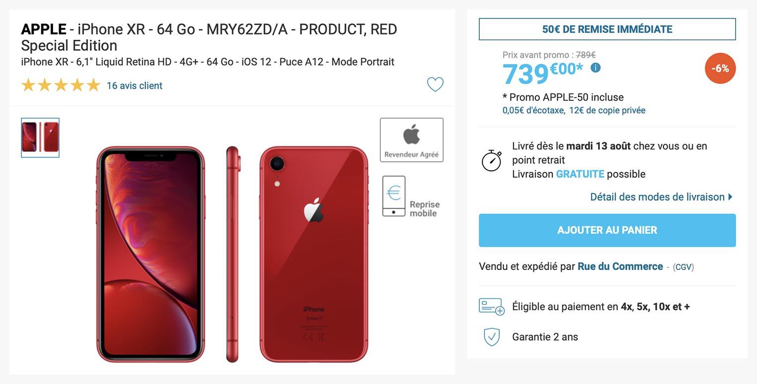 iPhone XR Rue du Commerce