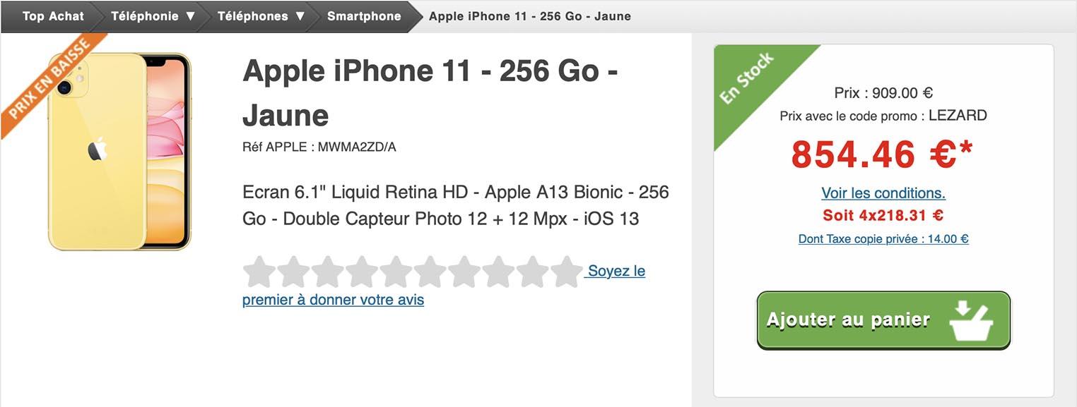 iPhone 11 jaune Top Achat