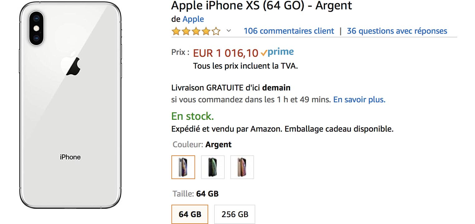 iPhone XS Amazon