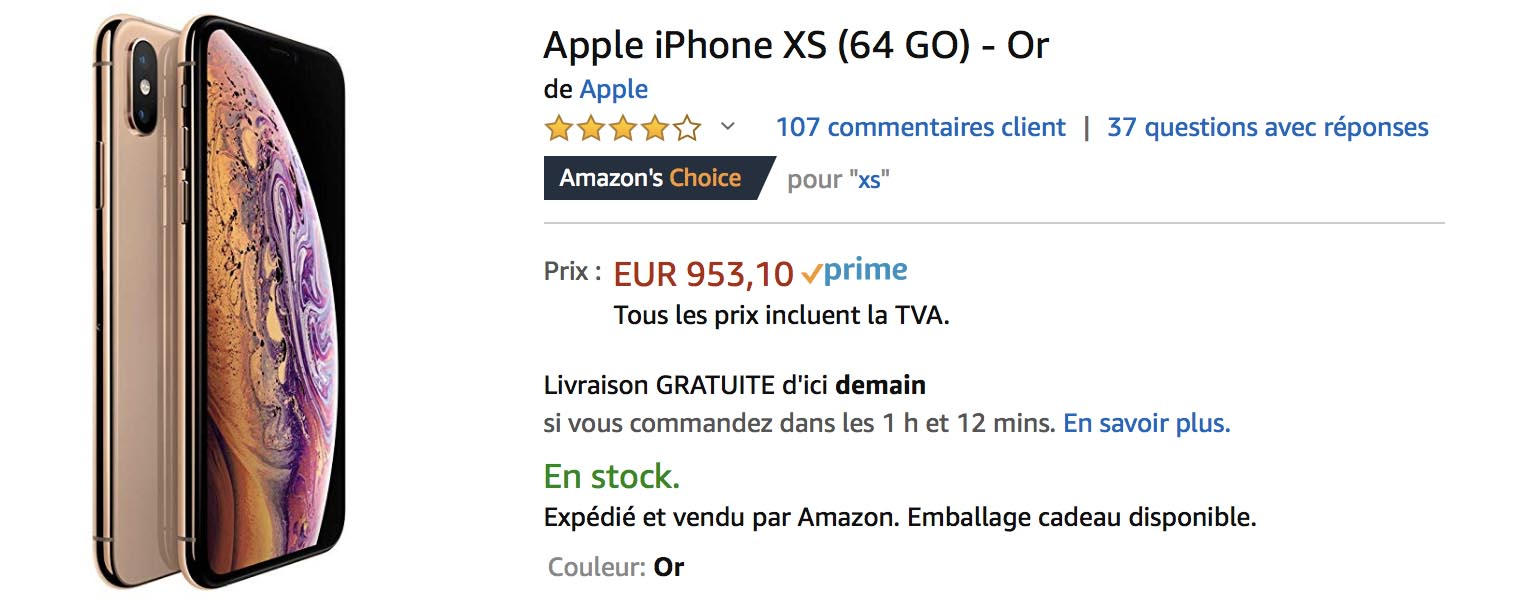 iPhone XS or Amazon