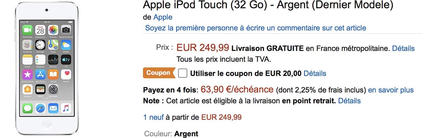 iPod touch 2019 Amazon