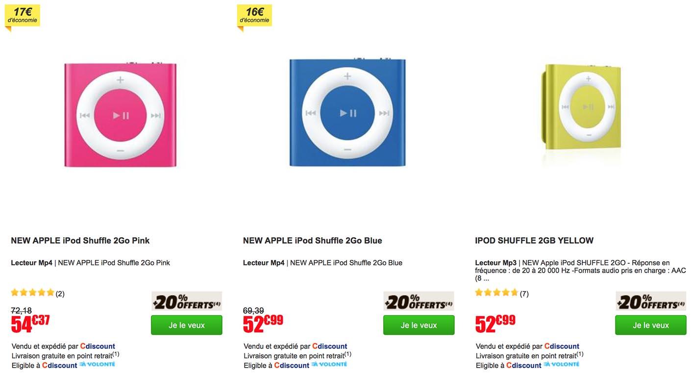 iPod shuffle promo CDiscount