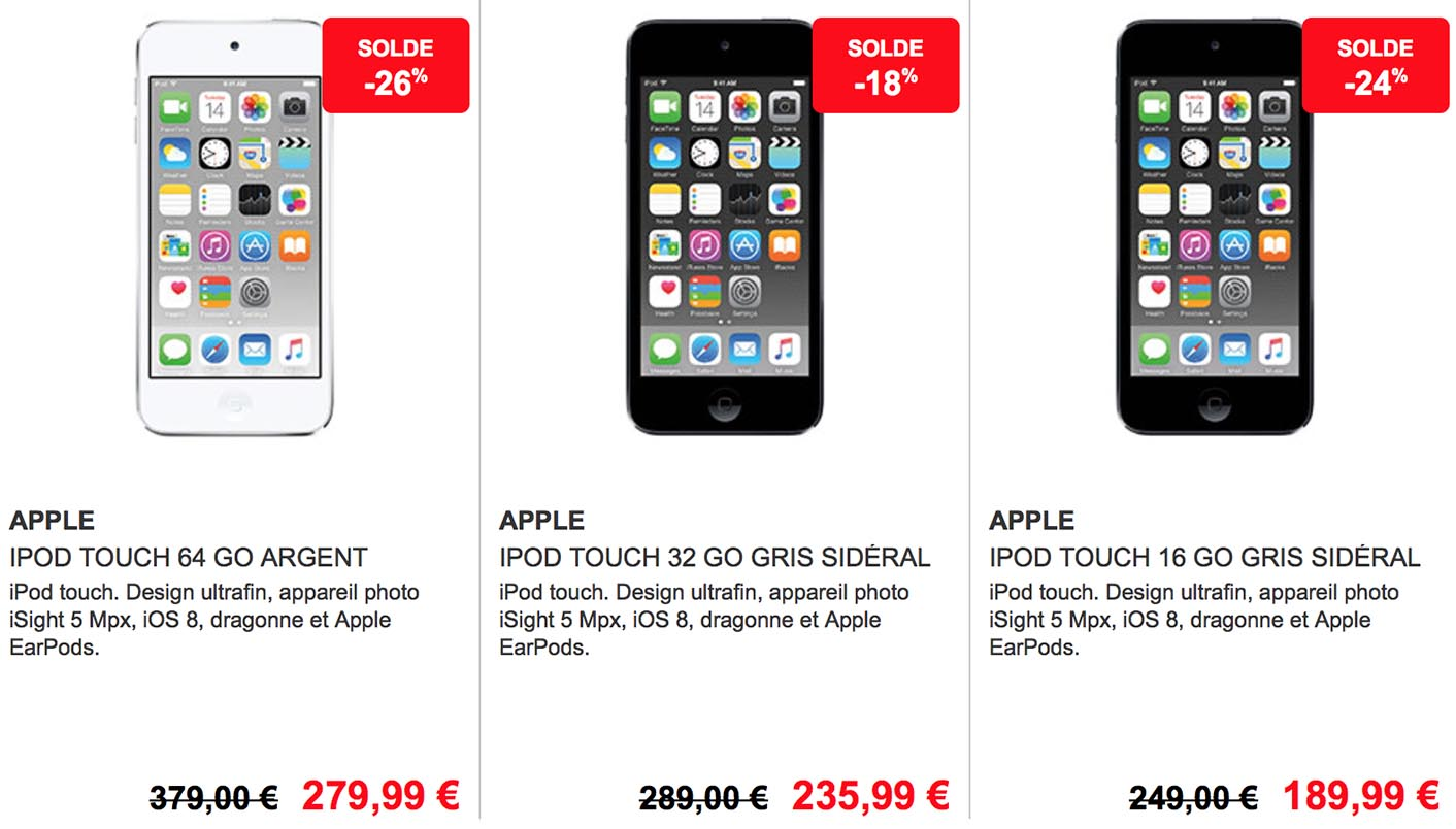 Soldes iPod touch