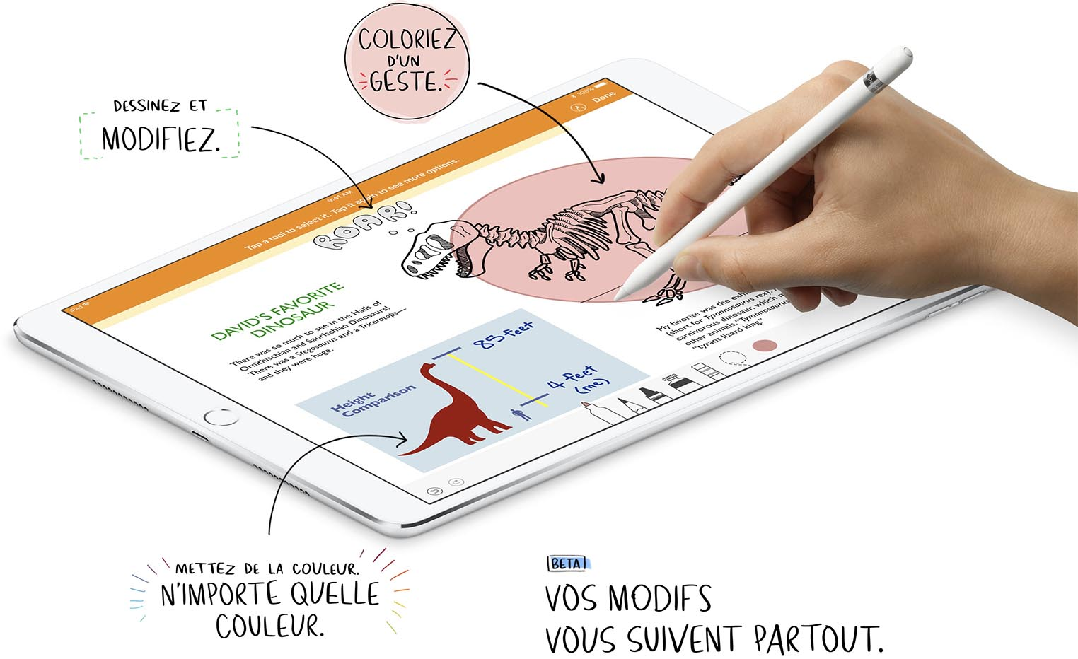 iWork Apple Pencil Pages