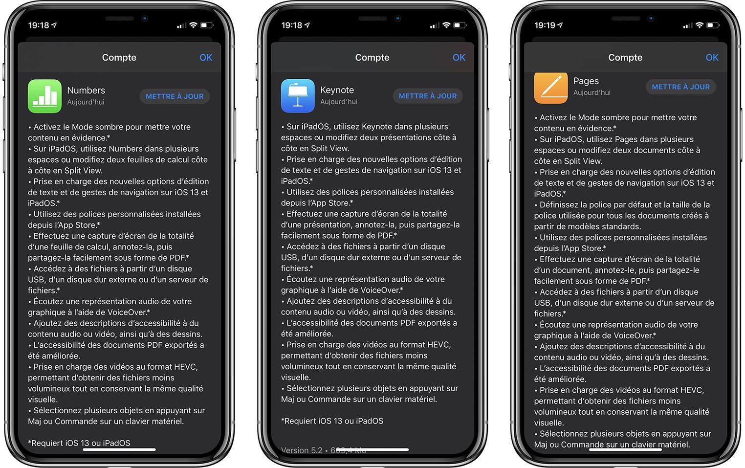 iWork iOS 13