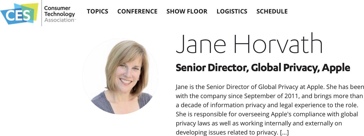 Jane Horvath CES 2020