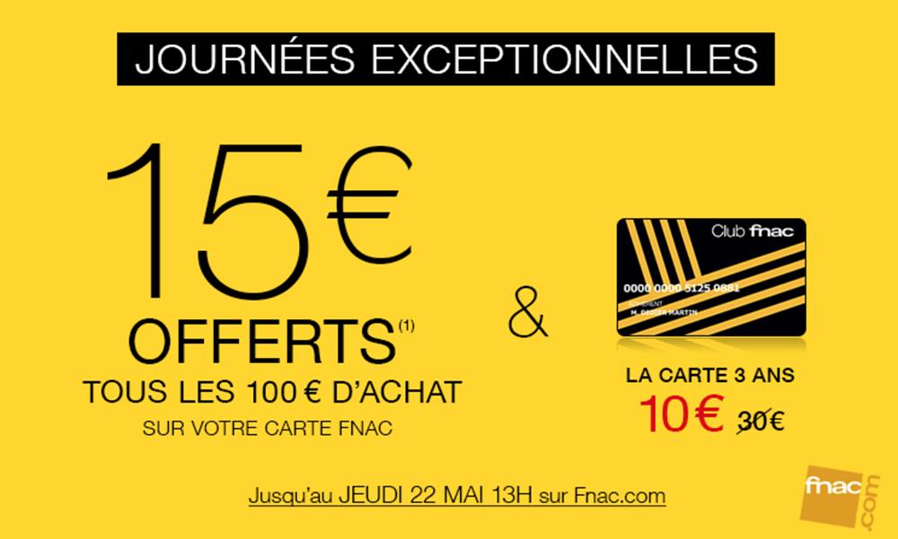Consomac 15 Reverses Tous Les 100 Depenses A La Fnac