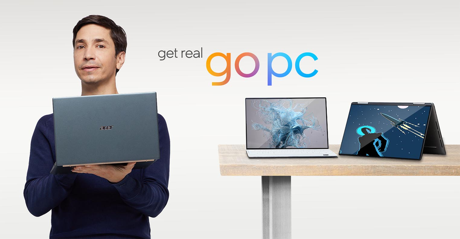 Justin Long campagne Go PC