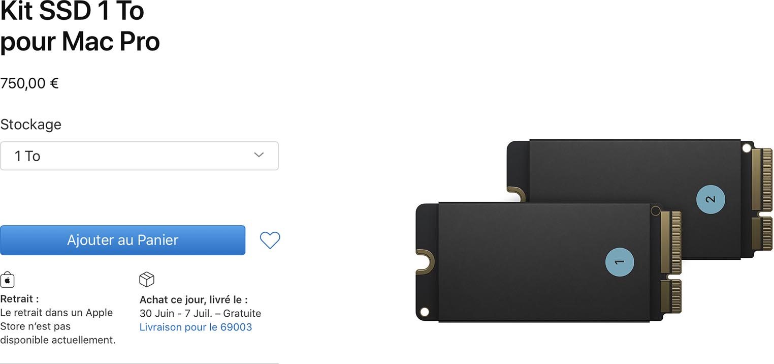 Kit SSD Mac Pro 2019