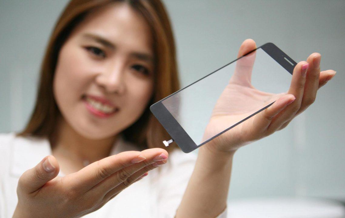 LG capteur d'empreintes verre