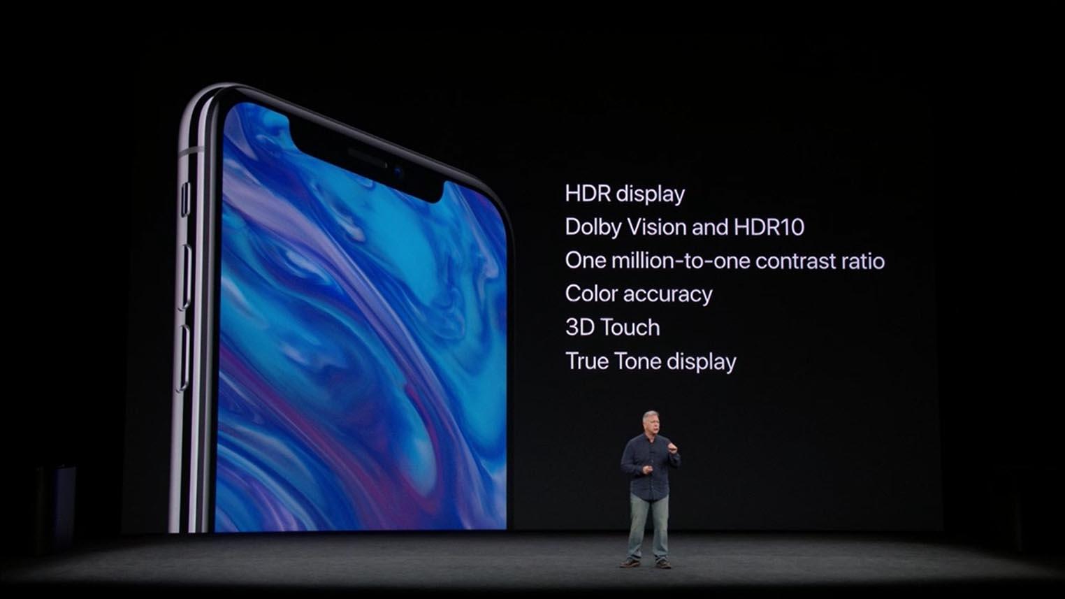 OLED iPhone X keynote