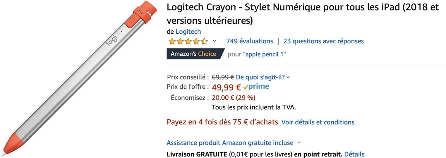 Logitech Crayon Amazon